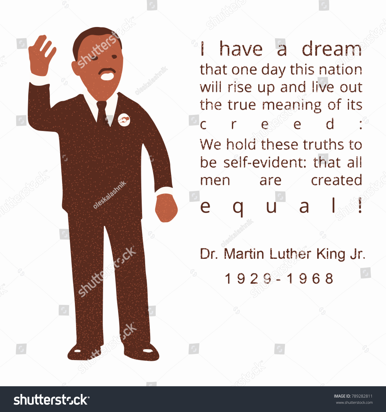 Cartoon Figure Dr Martin Luther King Stock Vector Royalty Free