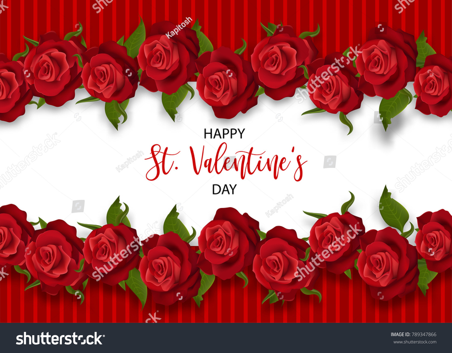 Realistic red rose st valentines day stock vector royalty free realistic red rose st valentines day card love roses flower bouquet valentines banner frame izmirmasajfo