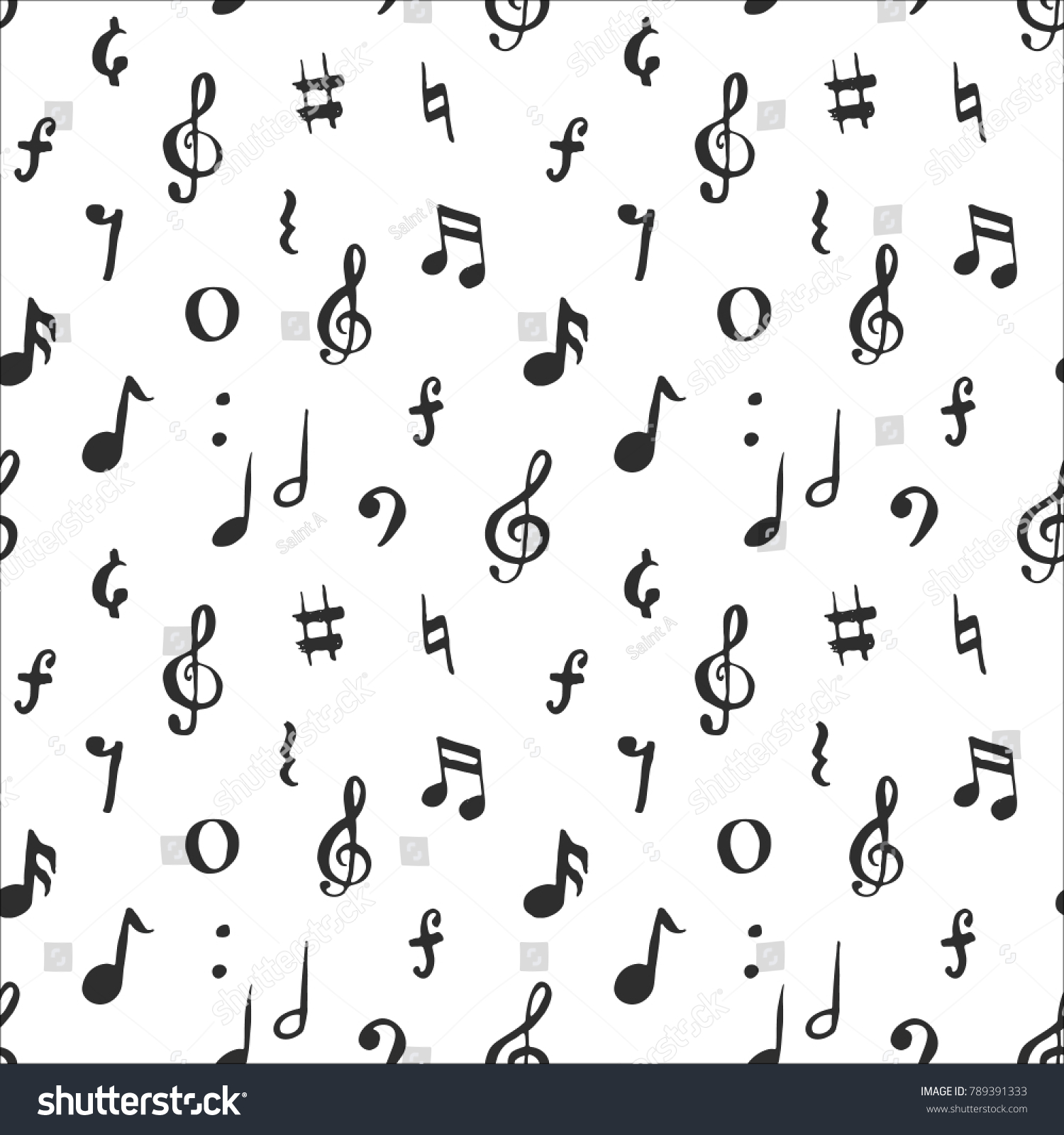 Music note symbols text images symbol and sign ideas music note seamless pattern vector illustration stock vector music note seamless pattern vector illustration hand drawn buycottarizona