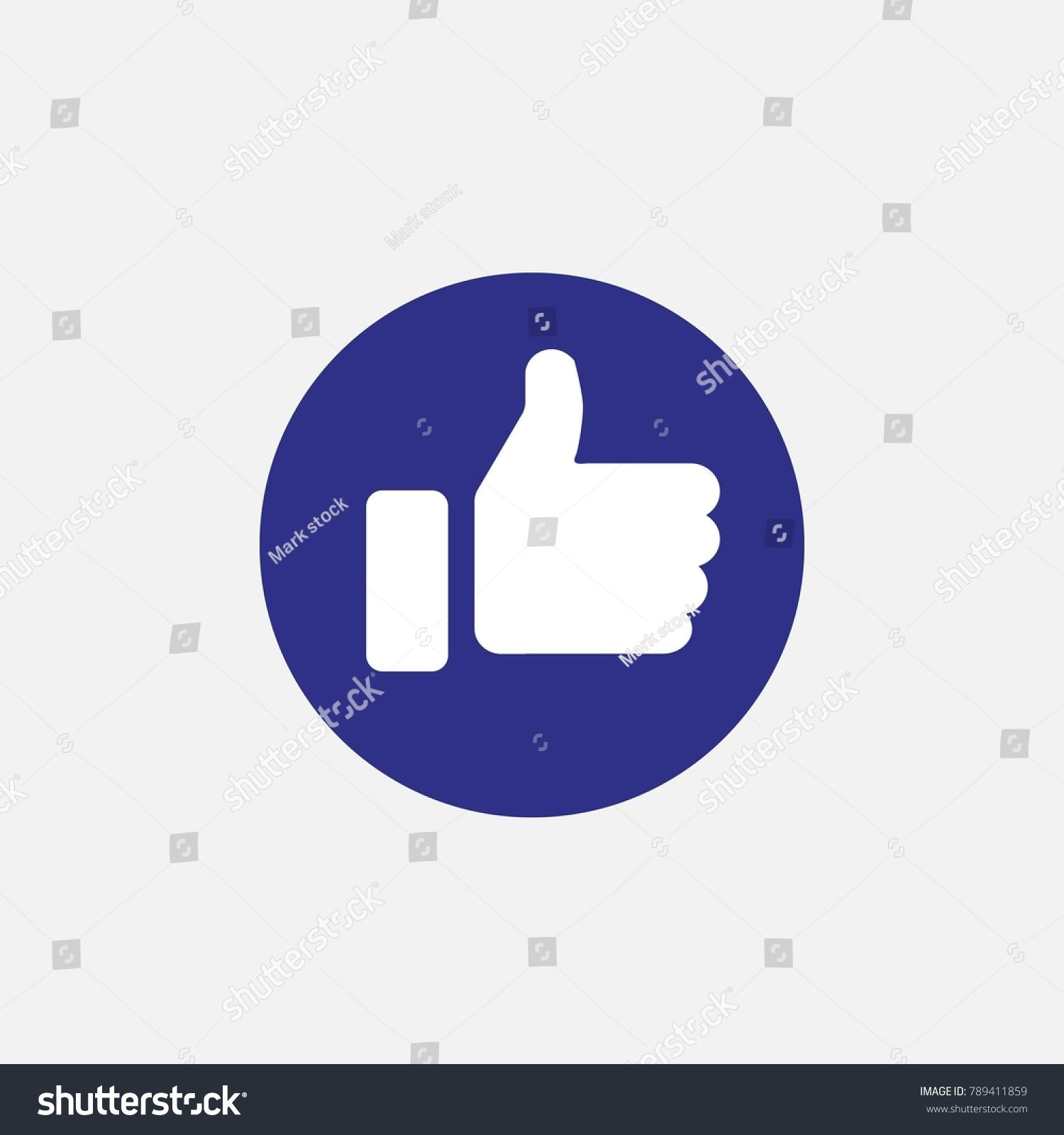 Thumbs like symbol human hand nice stock vector 789411859 thumbs up like symbol human hand for nice or approved vector icon in blue circle flat buycottarizona Choice Image
