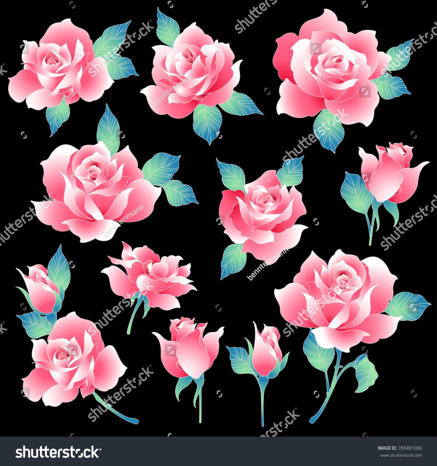 Rose flower illustration made beautiful rose stock vector royalty rose flower illustration i made a beautiful rose a painting izmirmasajfo
