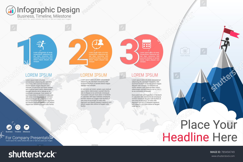Business infographics report milestone timeline road stock vector business infographics report milestone timeline or road map with process flowchart 3 options strategic nvjuhfo Image collections