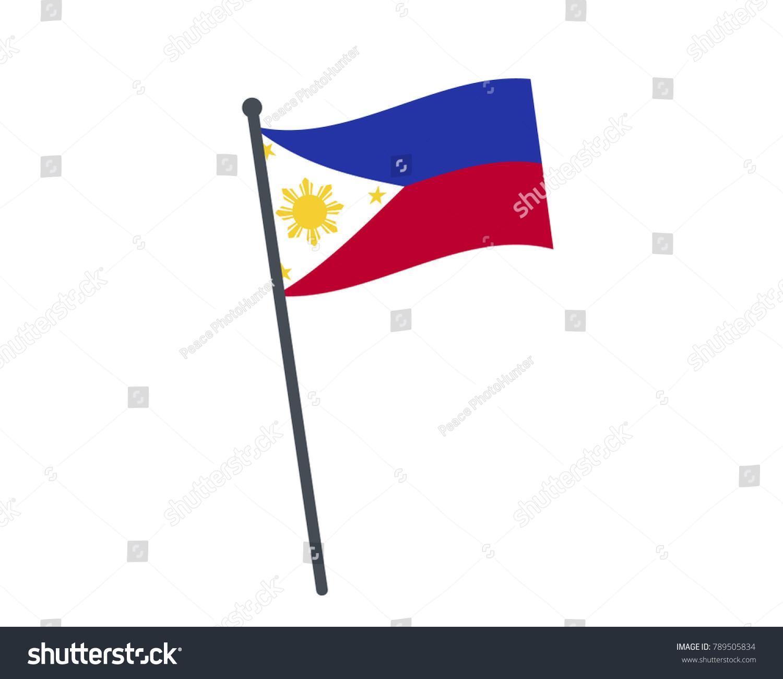 Philippines flag national flag philippines on stock vector philippines flag the national flag of philippines on a pole the waving flag buycottarizona Images