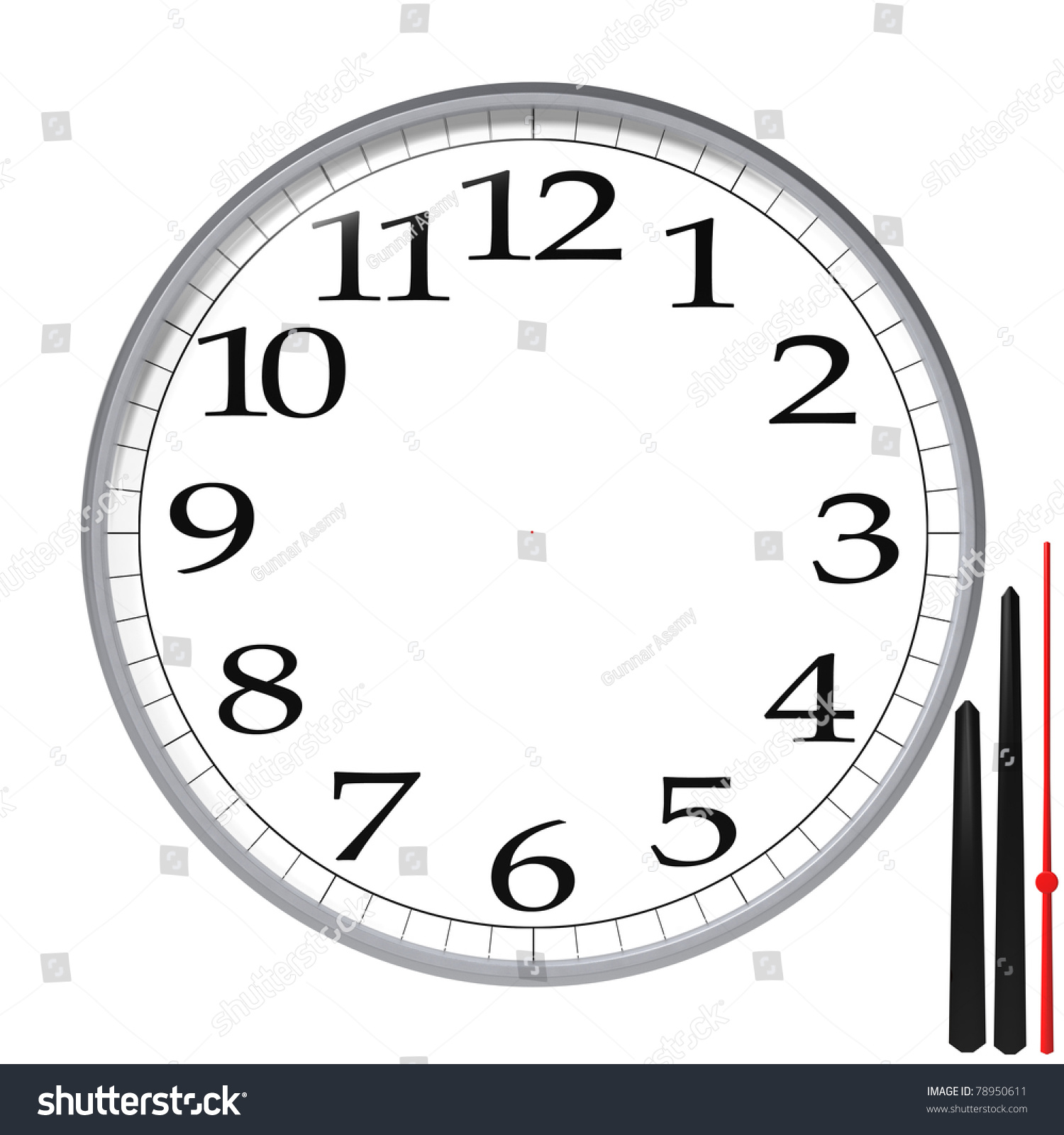 High Resolution Clock Templateclock Templateisolated On Stock ...