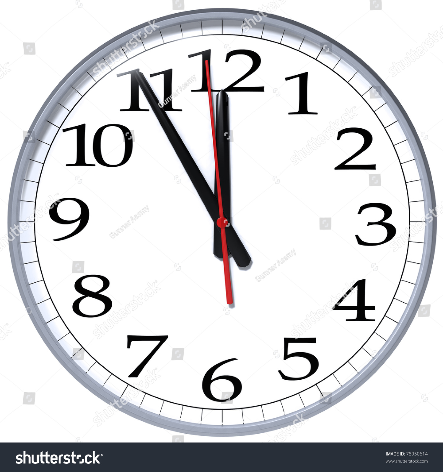 High Resolution The Hour Late Clock Stock Illustration 78950614 ...