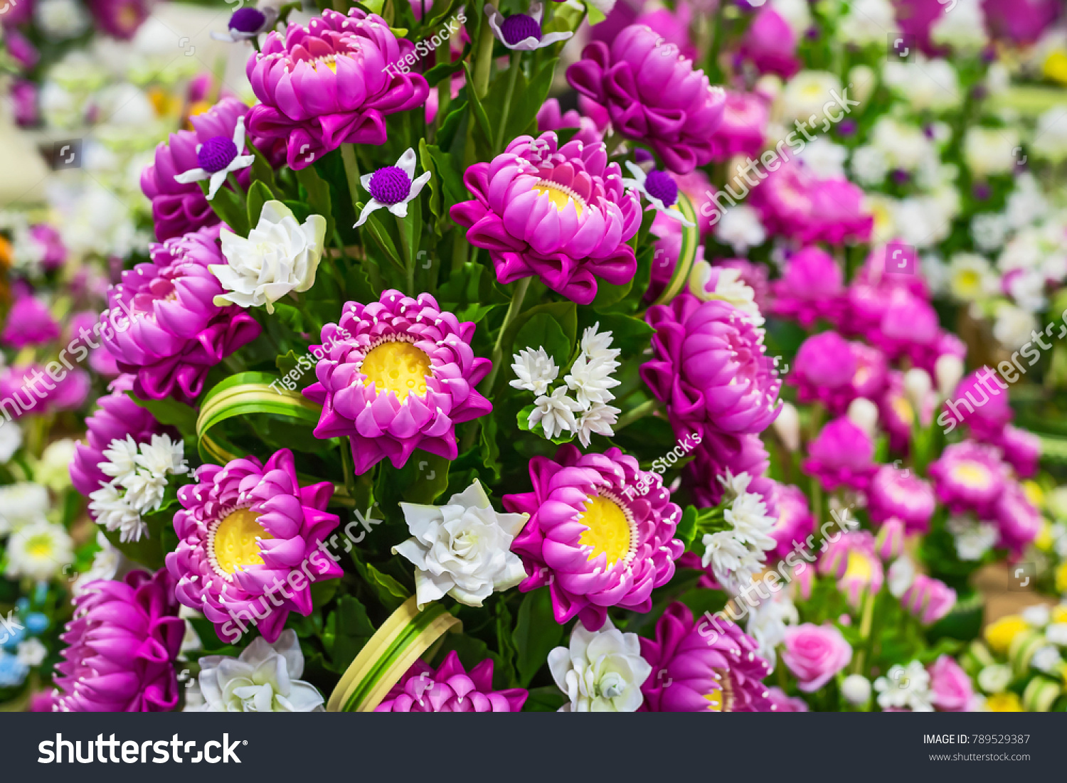 Cute Artificial Pink Lotus Flowers Water Stock Photo Edit Now