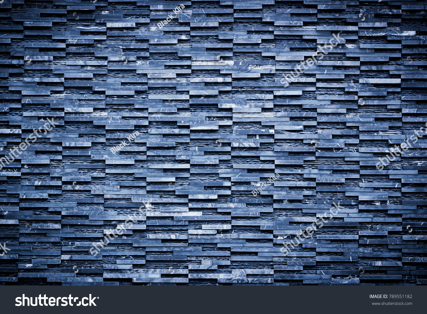 Modern Blue Rectangle Tiles Abstract Technology Stock Photo (Safe to ...
