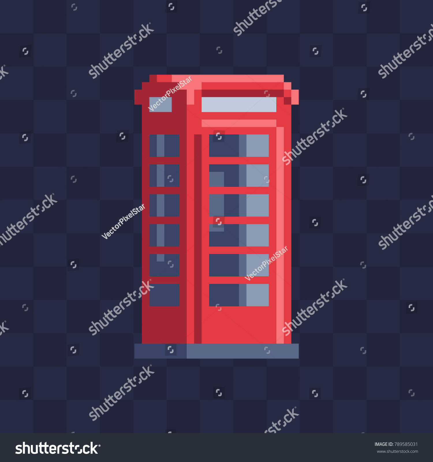 London Red Phone Booth England Country Stock Vector Royalty Free