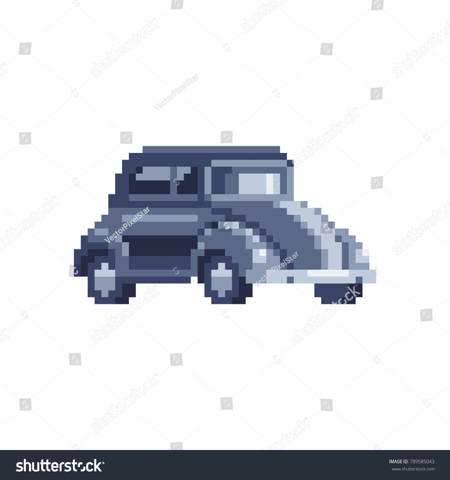 Retro Car Icon Pixel Art London Stock Vector Royalty Free