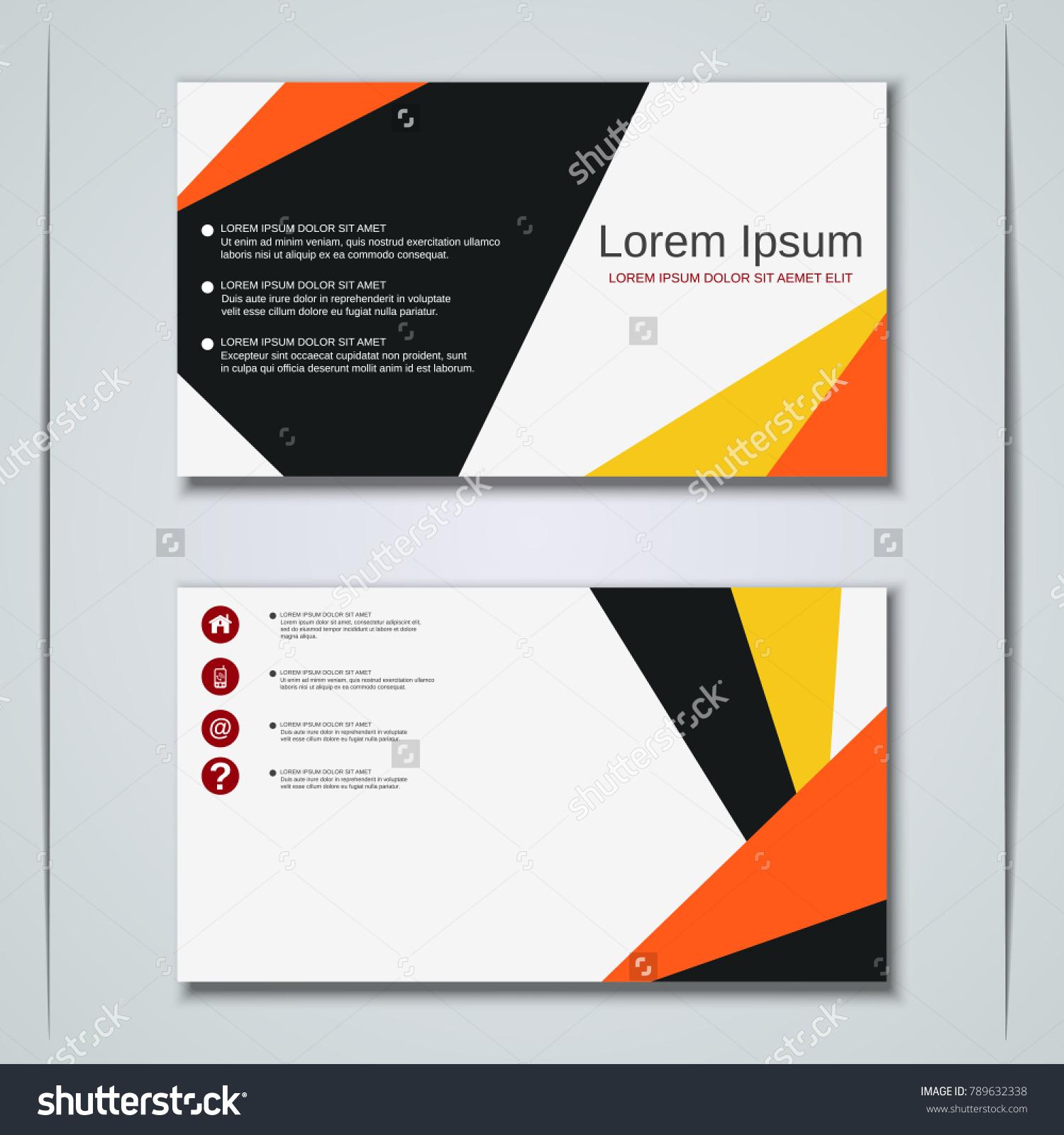 Modern Business Visiting Card Label Sticker Stock Vector 789632338 ...