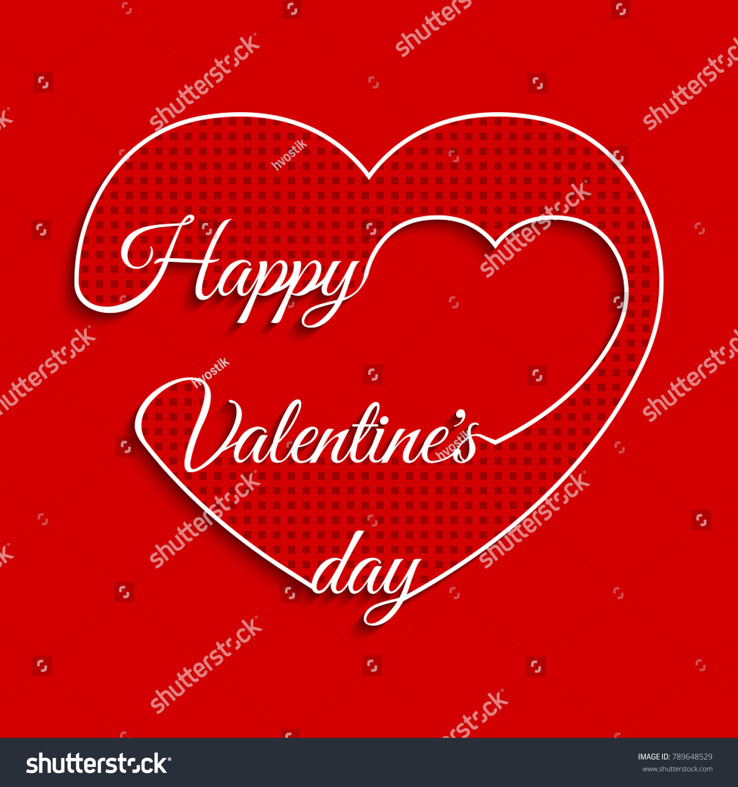 Valentines Day Cards Love Card Valentines Stock Illustration