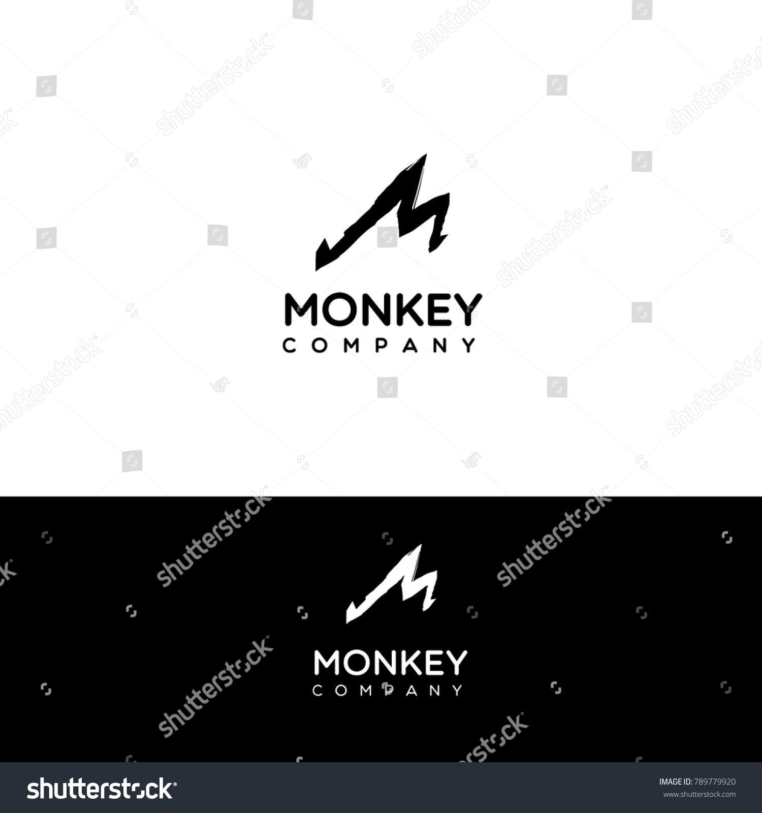 M Letter Vector Logo Hand Drawn Stock Vector Royalty Free
