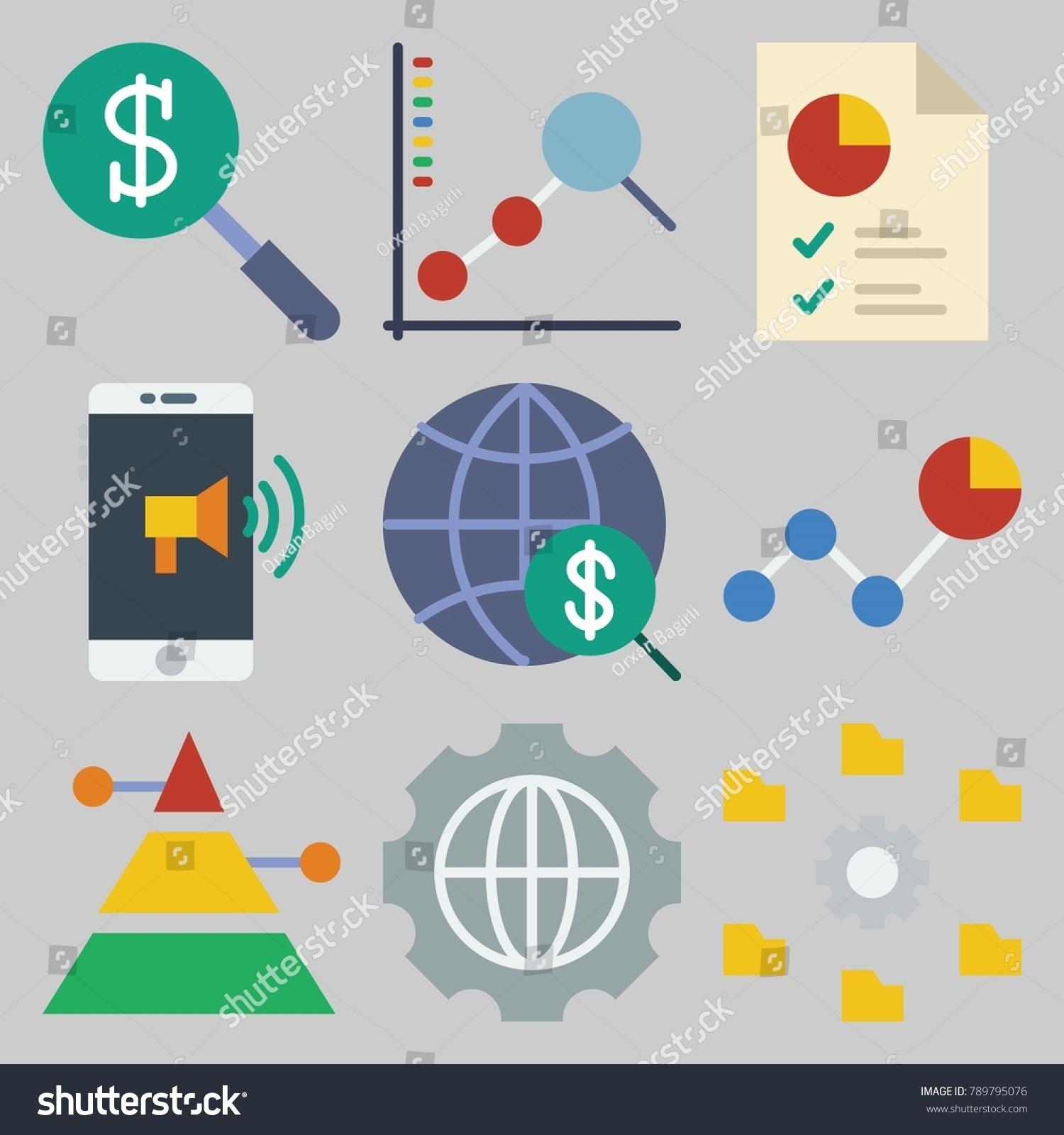 Icon set about marketing keywords internet stock vector 789795076 icon set about marketing with keywords internet line chart smartphone pie chart geenschuldenfo Gallery