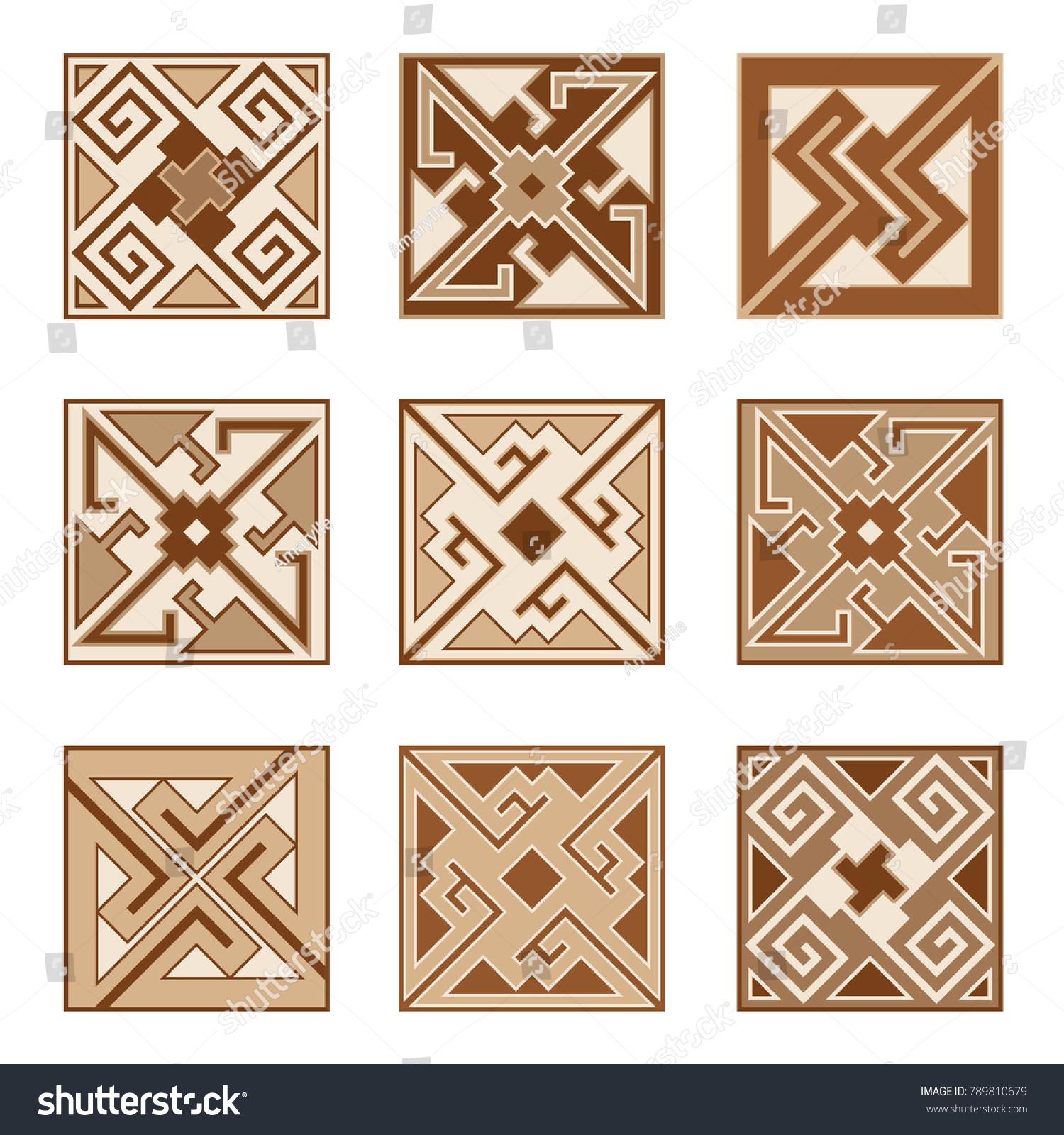 Set Parquet Floor Ceramic Tile Patterns Stock Vector 789810679 ...