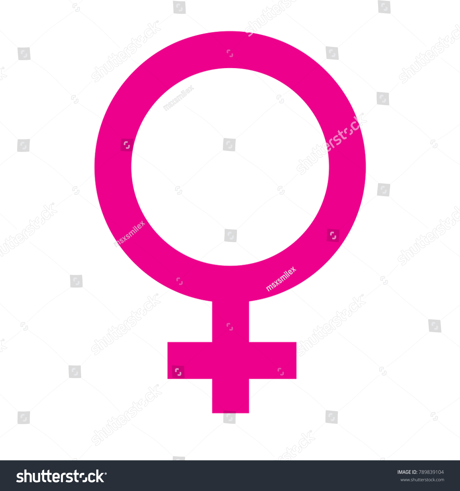 Female Gender Symbol Stock Vector Royalty Free 789839104