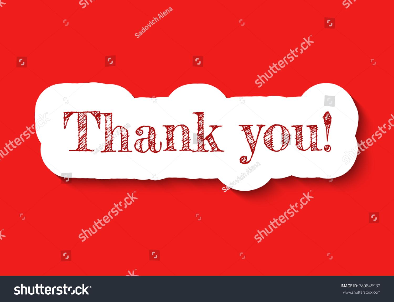Thank You Signature Paper Art Sticker Stock Vector 789845932 ...