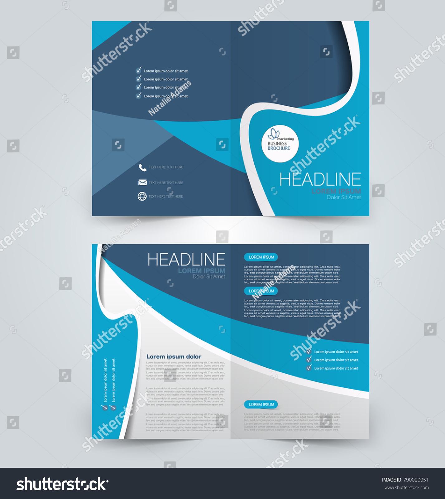 Fold Brochure Template Flyer Background Design Stock Vector ...