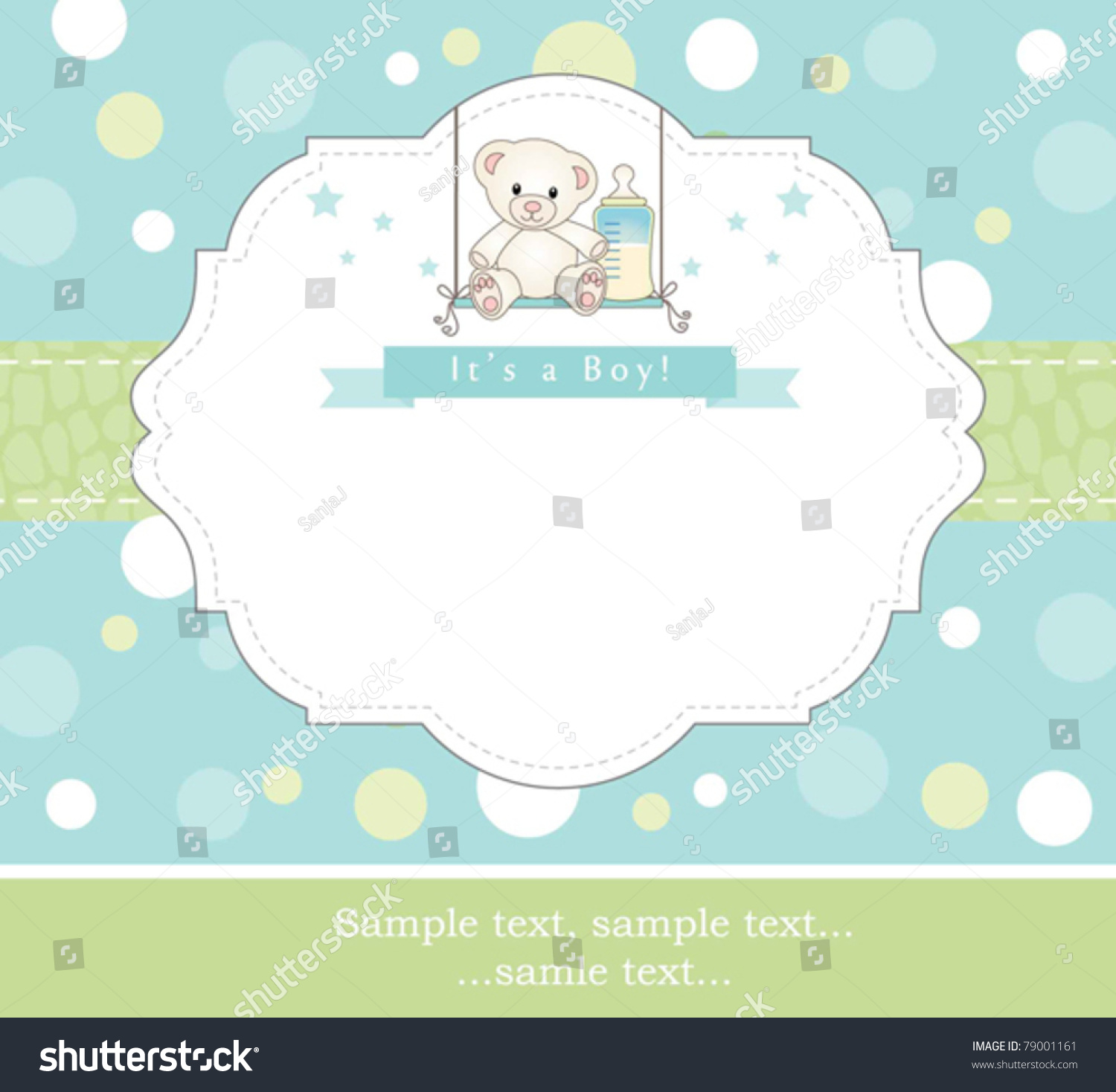 New Baby Boy Shower Invitation Stock Vector 79001161 - Shutterstock