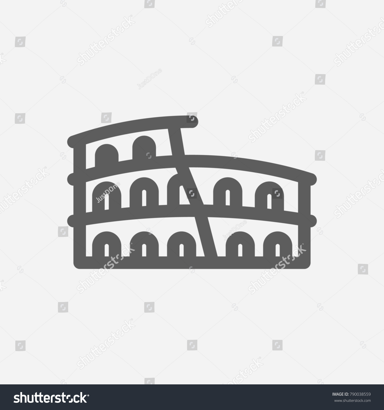 Travel City Series Symbol Country Rome Stock Illustration 790038559