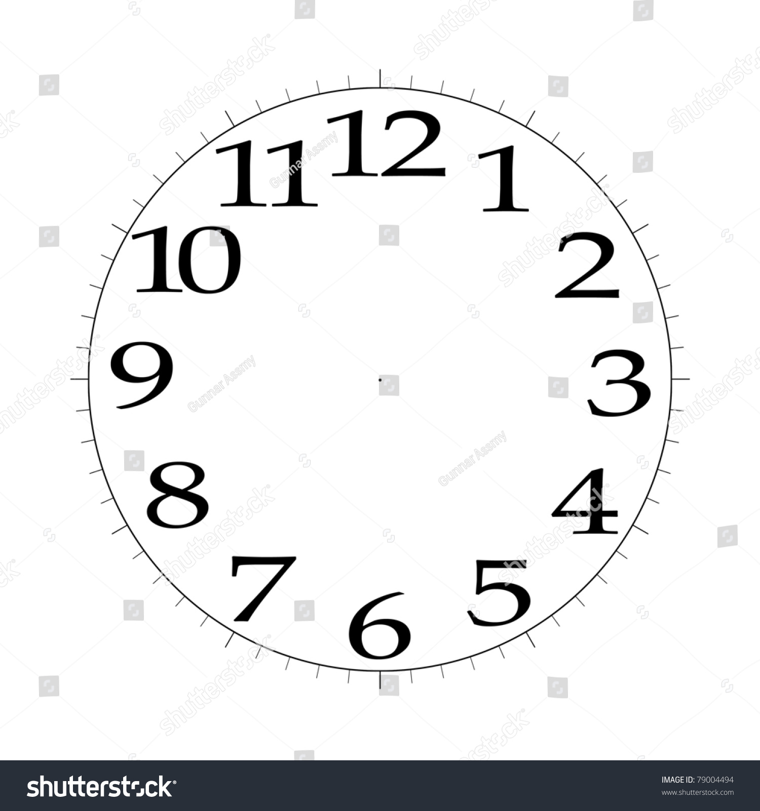 Clock Face Template 4k Illustration 79004494 Shutterstock – Clock Face Template