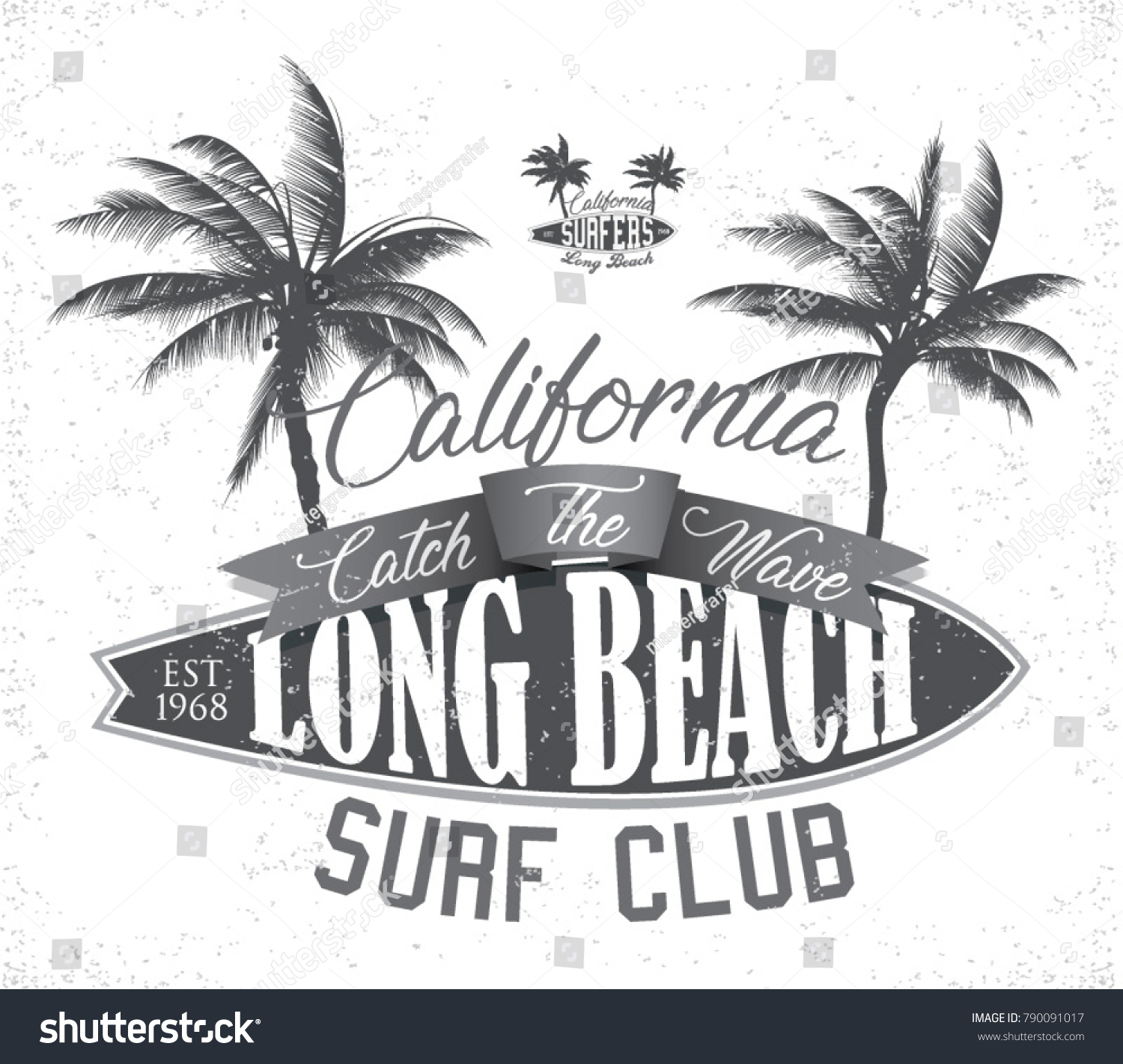 902c3c6a Vintage Surfing tee design. Retro t-shirt Graphics and Emblems for web or  print. Surfer, beach style logo . Surf Badge Surfboard seal, elements,  symbols.