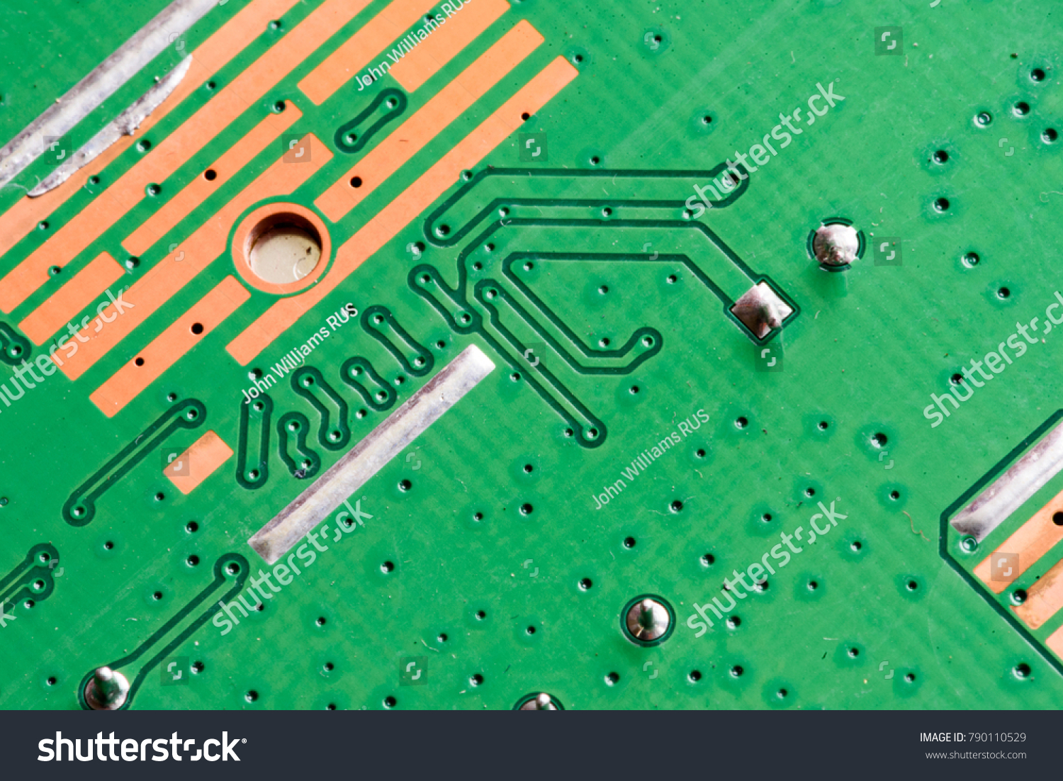 Electronic Pcb Printed Circuit Board Macro Stock Photo Edit Now Stockfoto Used In Industrial Close Up With Transistors Circuitry And Electric Hardware