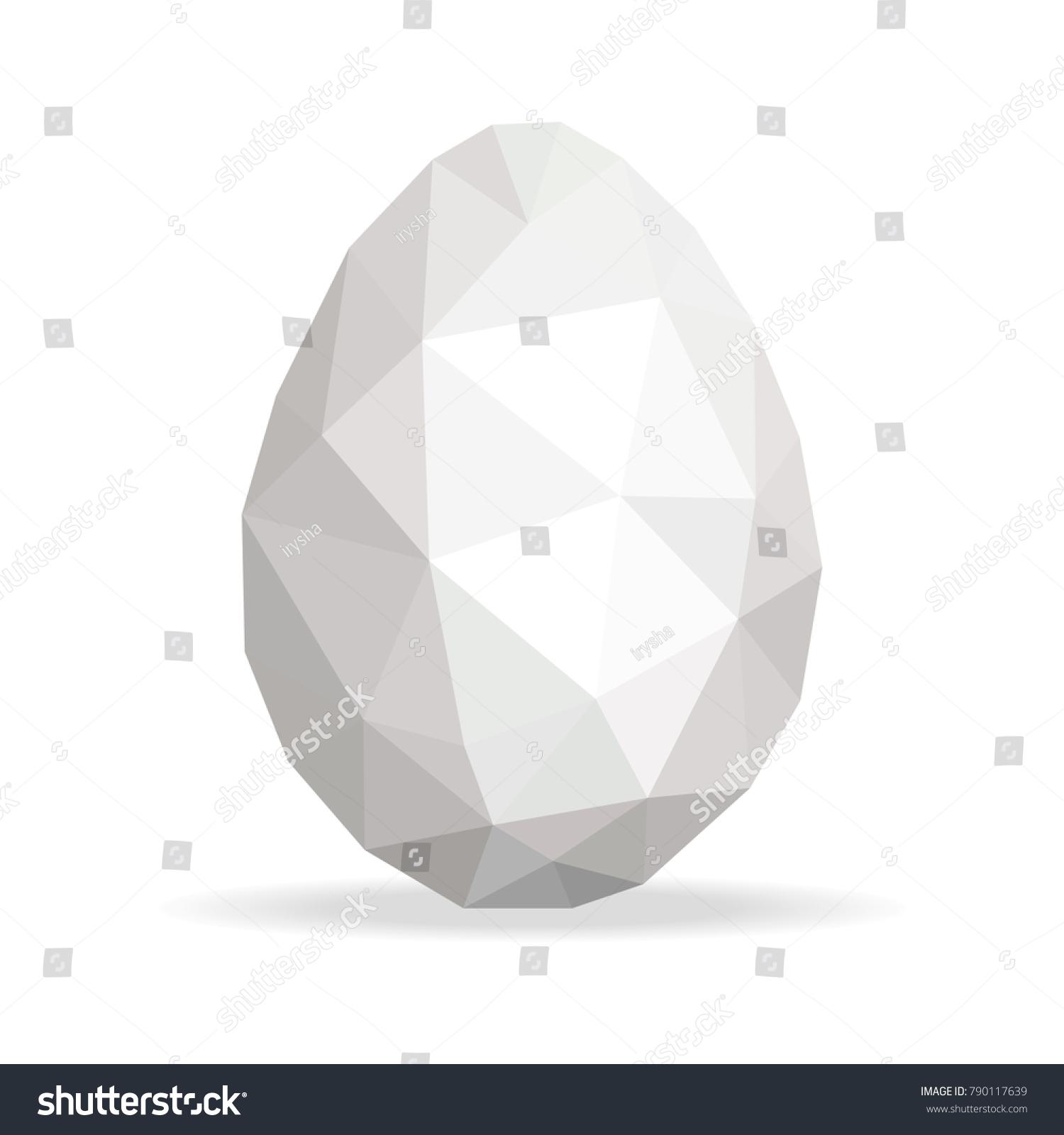 Easter Egg Geometric Pattern Vector Polygonal Stock Vector (2018 ...