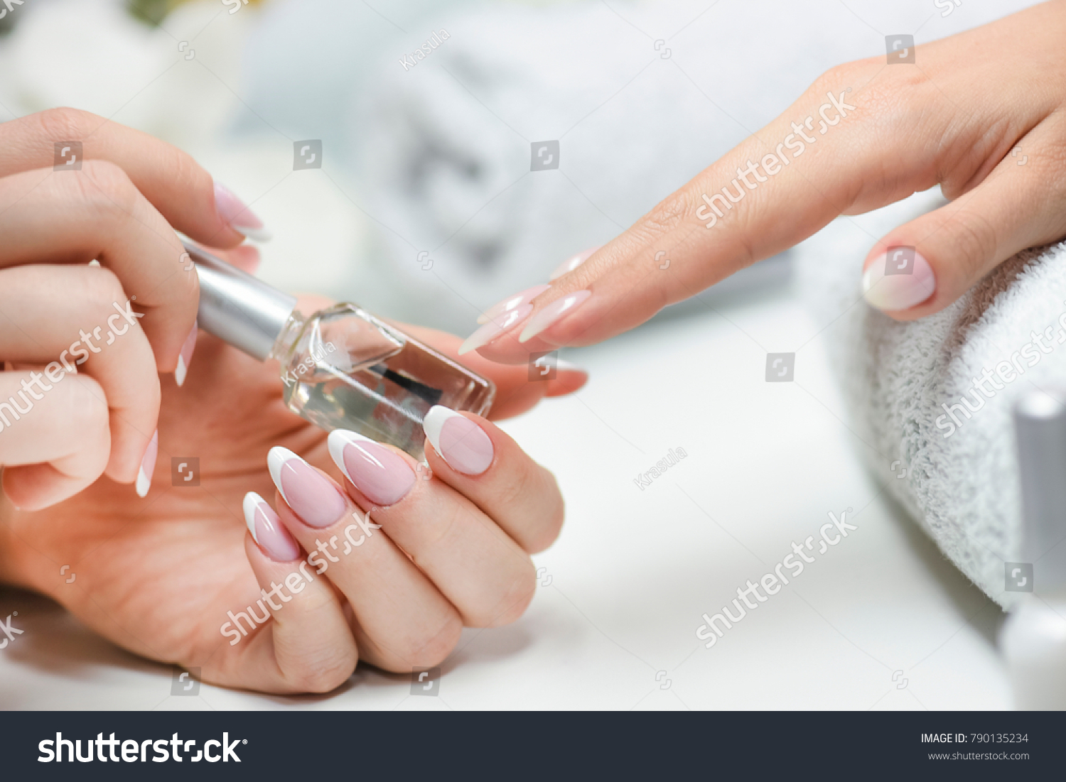 Woman Nails Manicure Luxury Nails Design Stock Photo 790135234 ...
