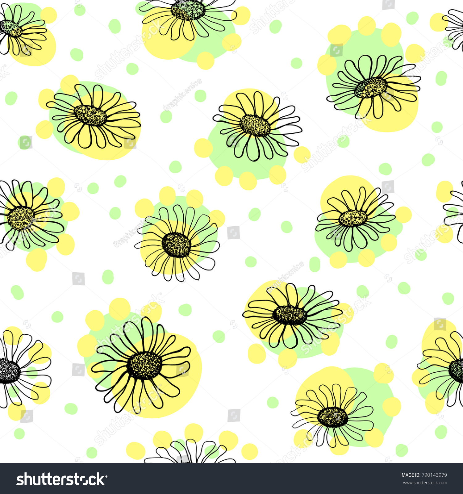 Simple cute hand drawn daisy flower stock vector royalty free simple cute hand drawn daisy flower pattern for textile design wallpaper or card designs izmirmasajfo
