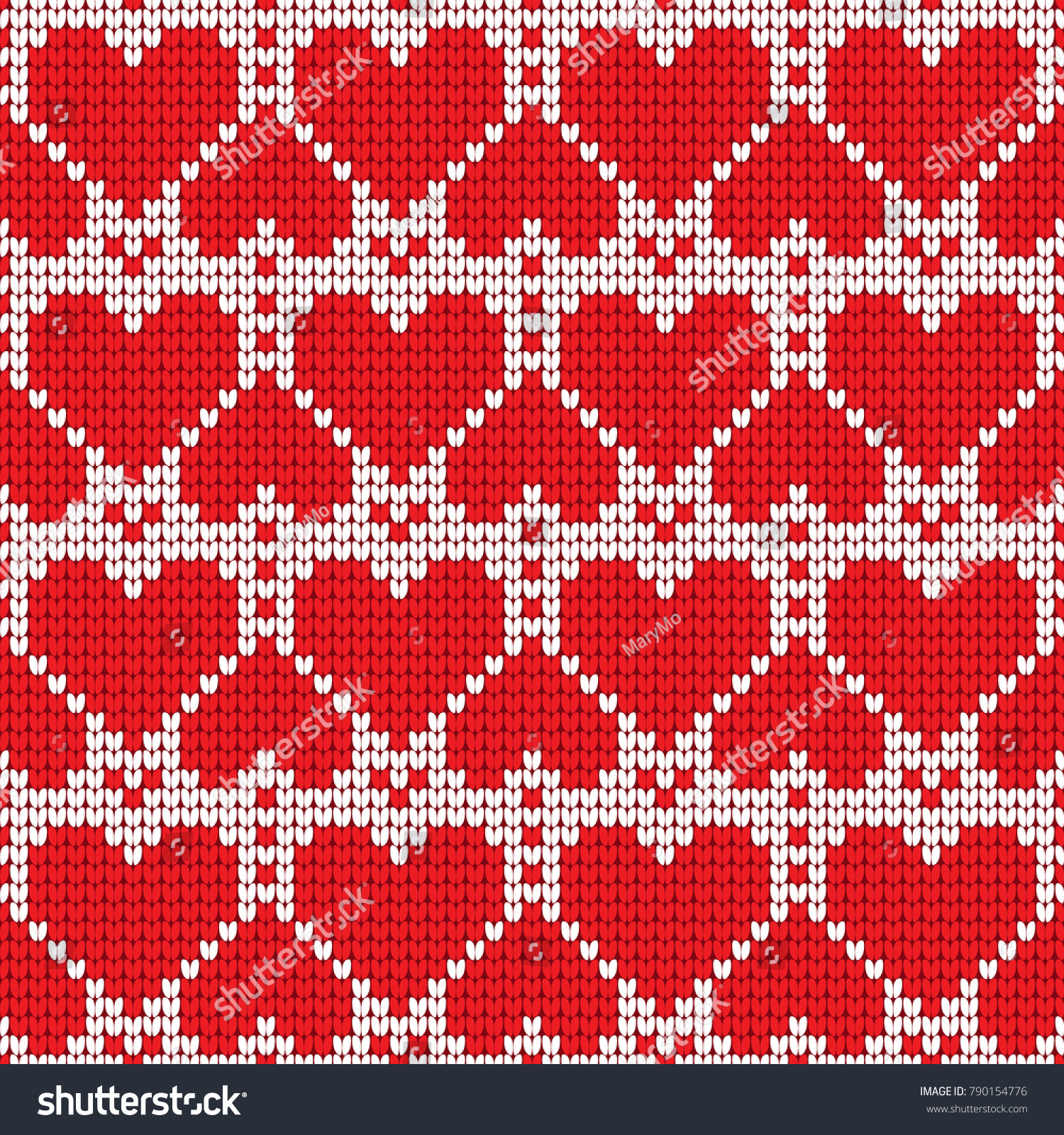 Valentines Day Love Heart Knitted Seamless Stock Vector (Royalty ...