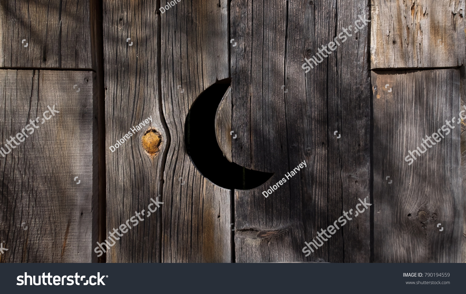 Vent Shape Half Moon On Old Stock Photo Edit Now 790194559