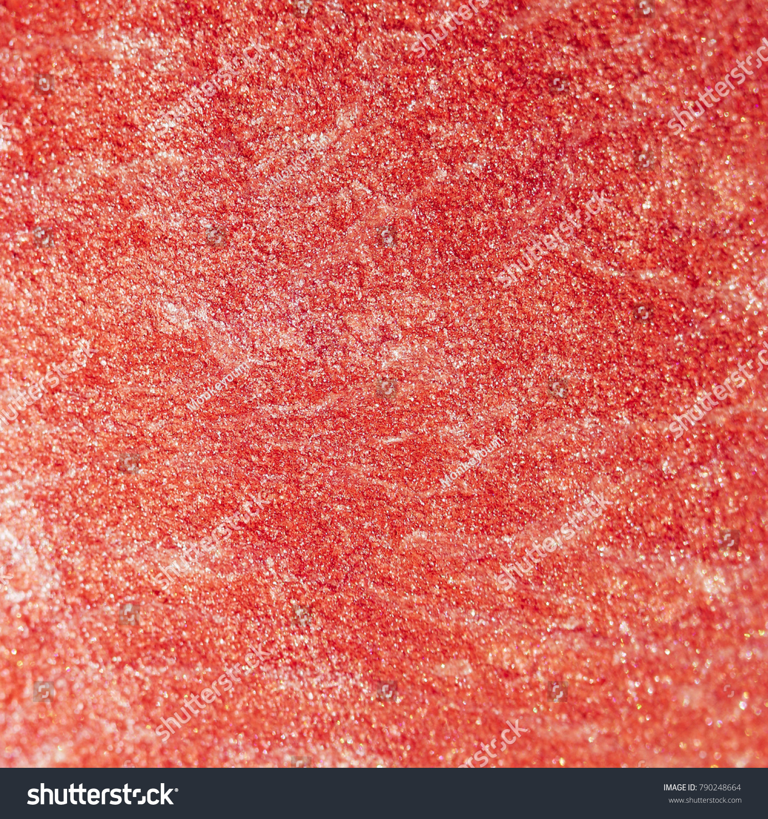 closeup of crushed blush in pink color pattern shard  #790248664