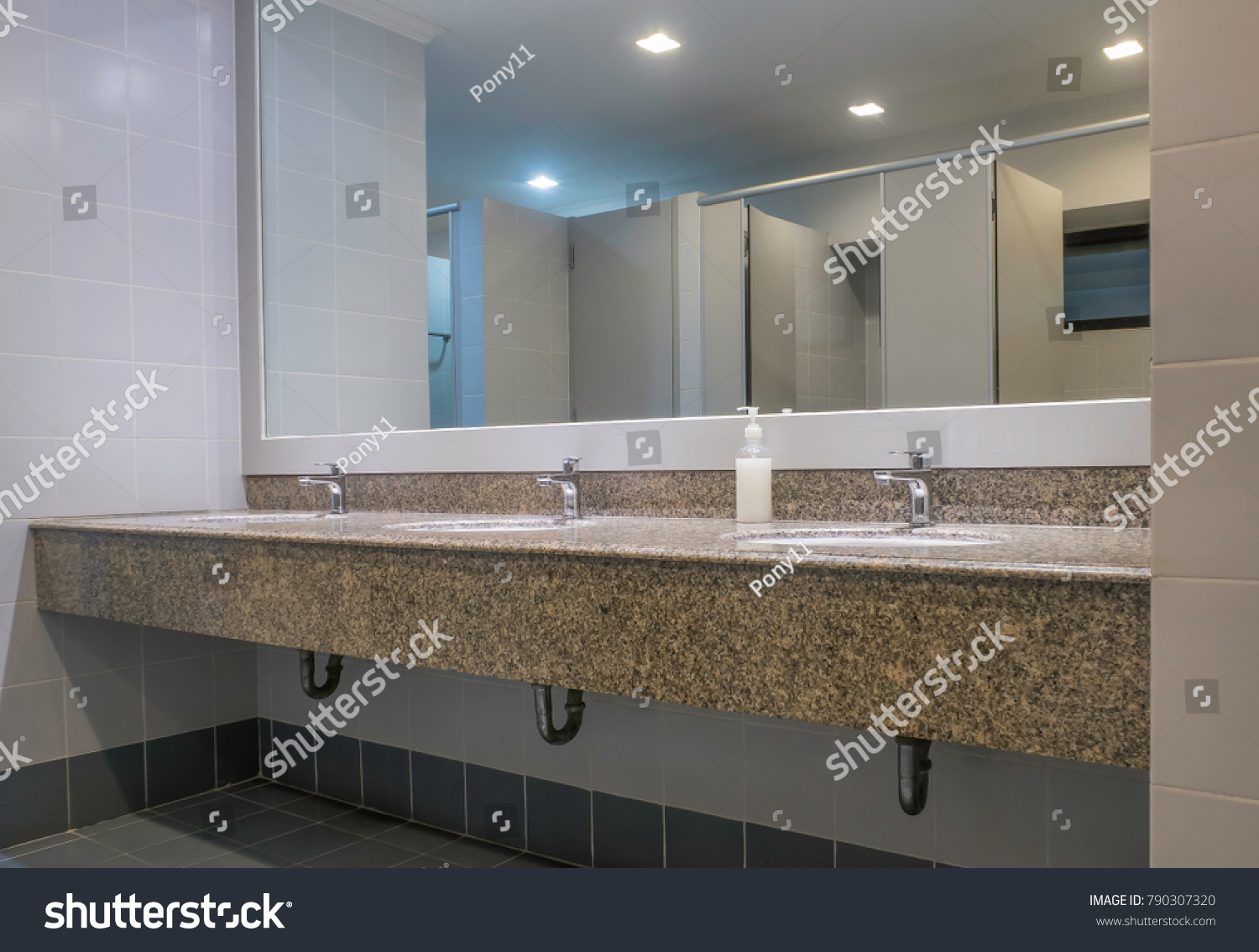 Faucets Washbasin On Granite Counter Men Stock Photo (Edit Now ...
