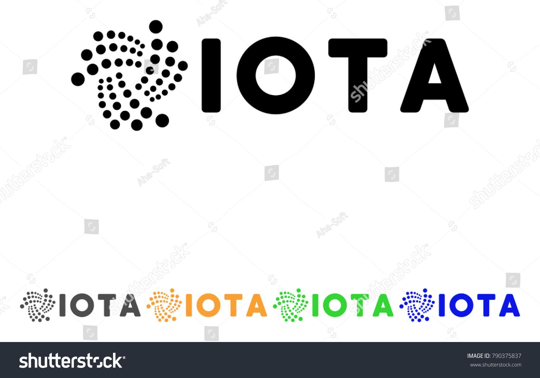 Iota Ticker Icon Vector Illustration Style Stock Vector Royalty