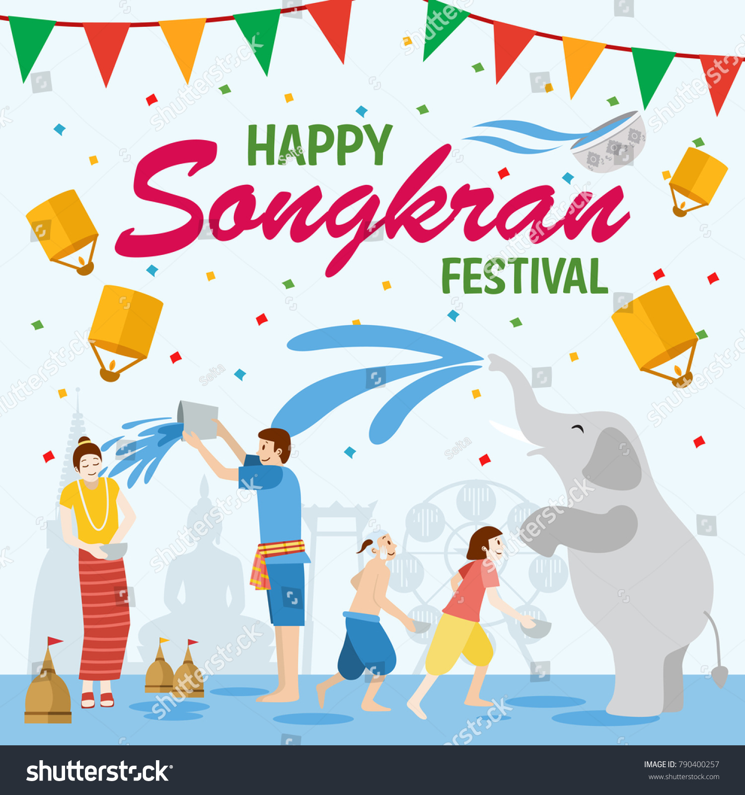 songkran festival banner thai new years day
