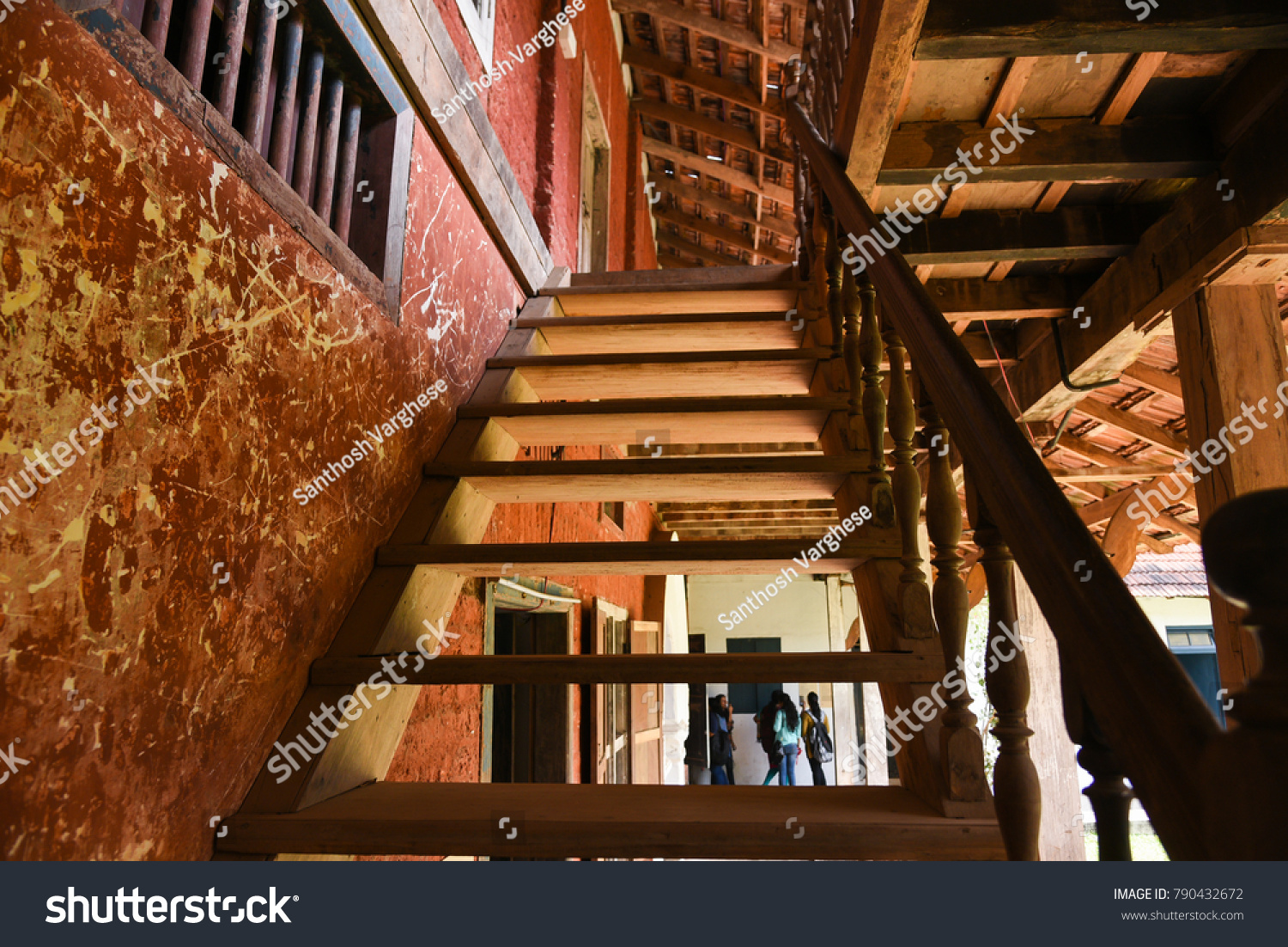 Kerala India January 12 Old Vintage Stock Photo Edit Now 790432672 Staircase Diagram Classic Stairs And Remodeling In A House Or Building