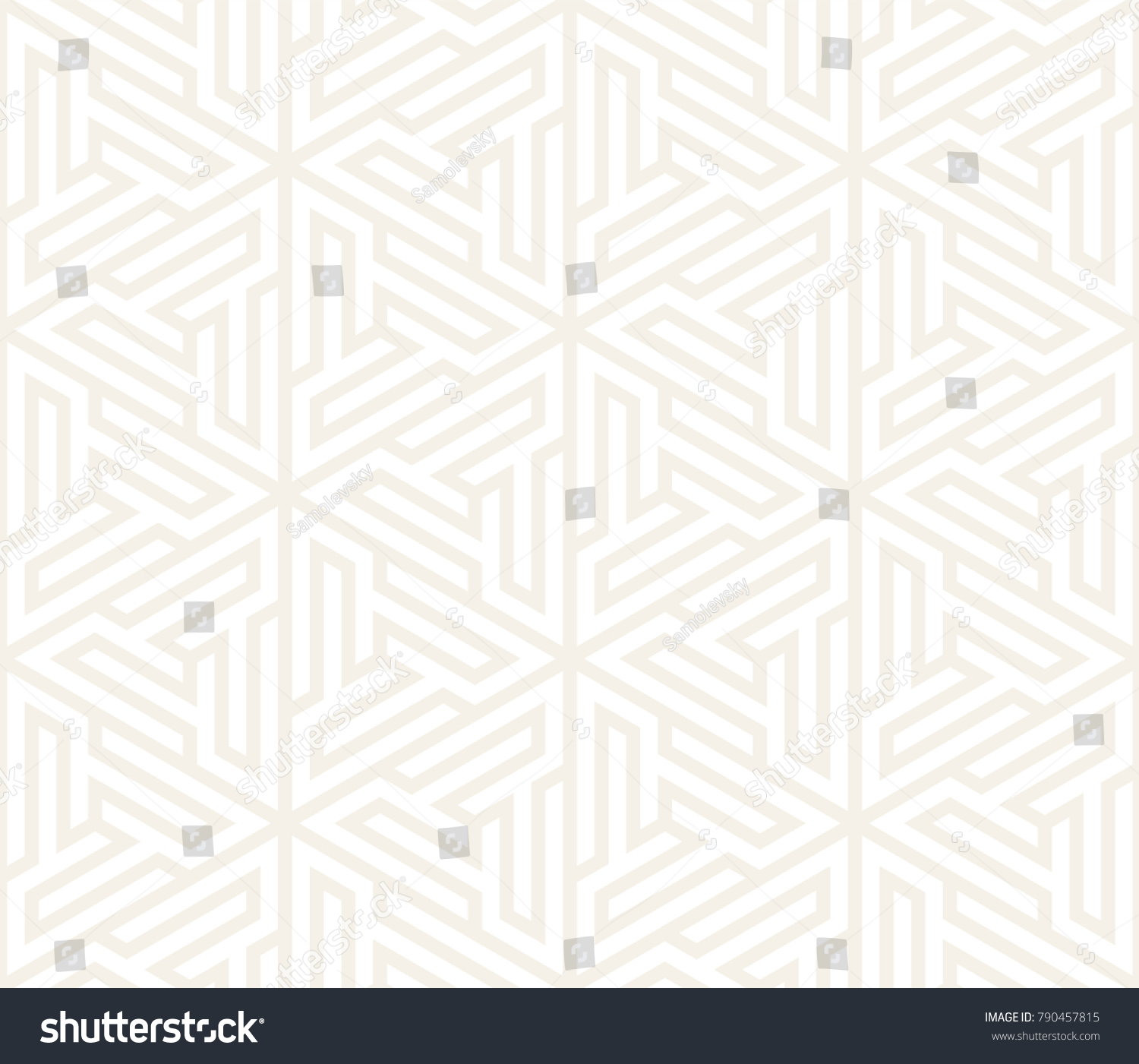 Vector Seamless Pattern Modern Stylish Texture Repeating Geometric Tiles From