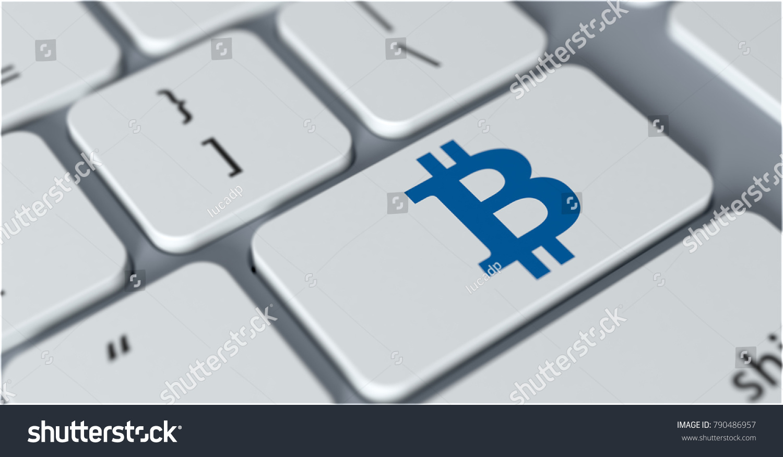 Closeup view computer keyboard bitcoin symbol stock illustration closeup view of a computer keyboard with the bitcoin symbol on a key 3d render biocorpaavc