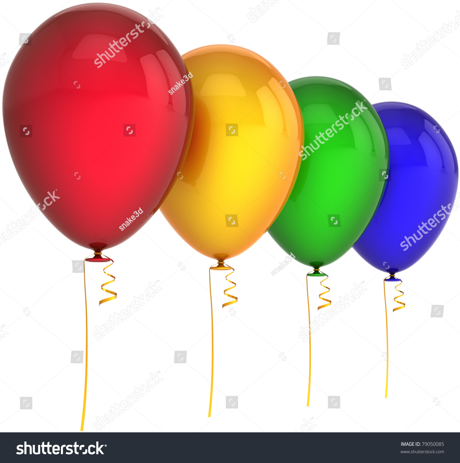 Green and blue balloons - Balloons Happy Birthday Party Decoration 4 Four Red Yellow Green Blue Colors Joy Positive Fun