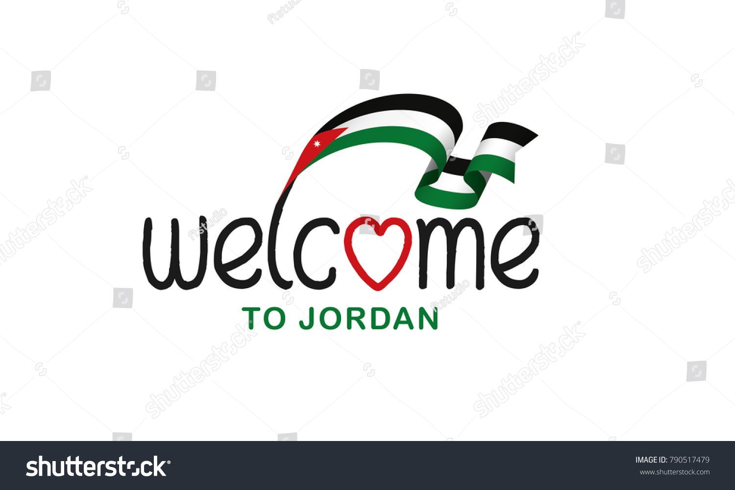 Jordan flag background stock vector 790517479 shutterstock jordan flag background biocorpaavc Gallery