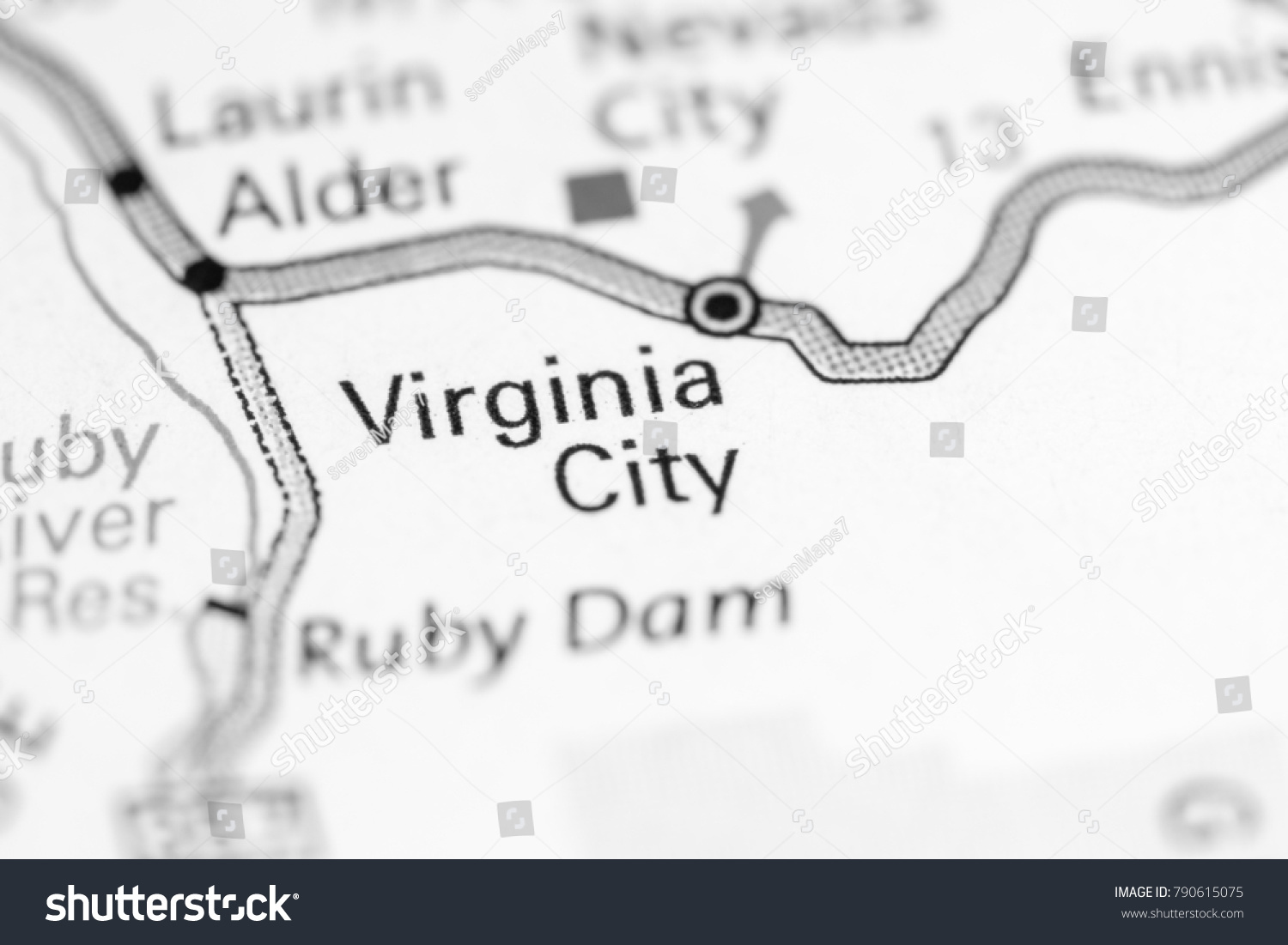 virginia city montana map