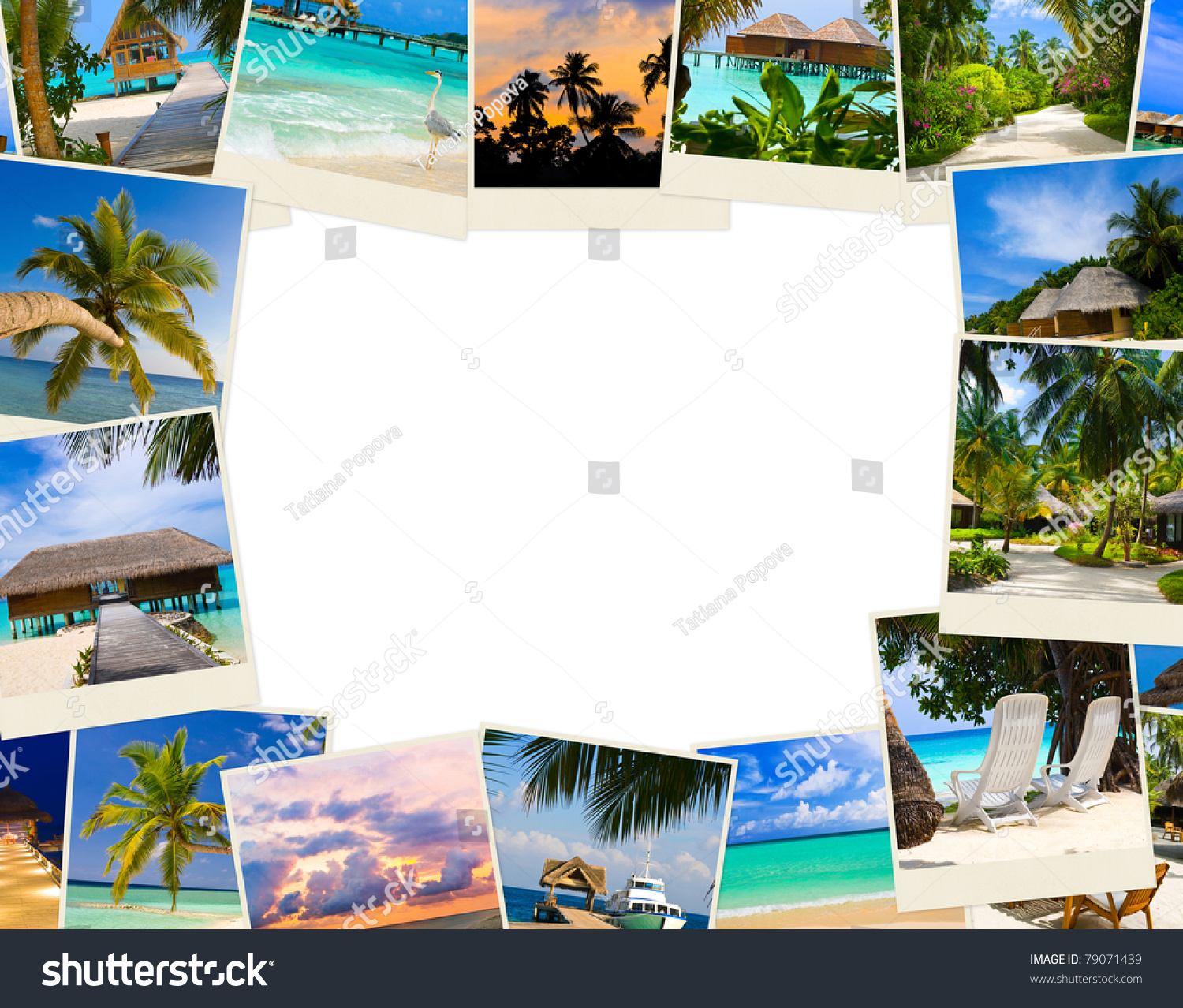 Vintage Beach Background Stock Photo 112981333: Frame Made Of Summer Beach Maldives Images