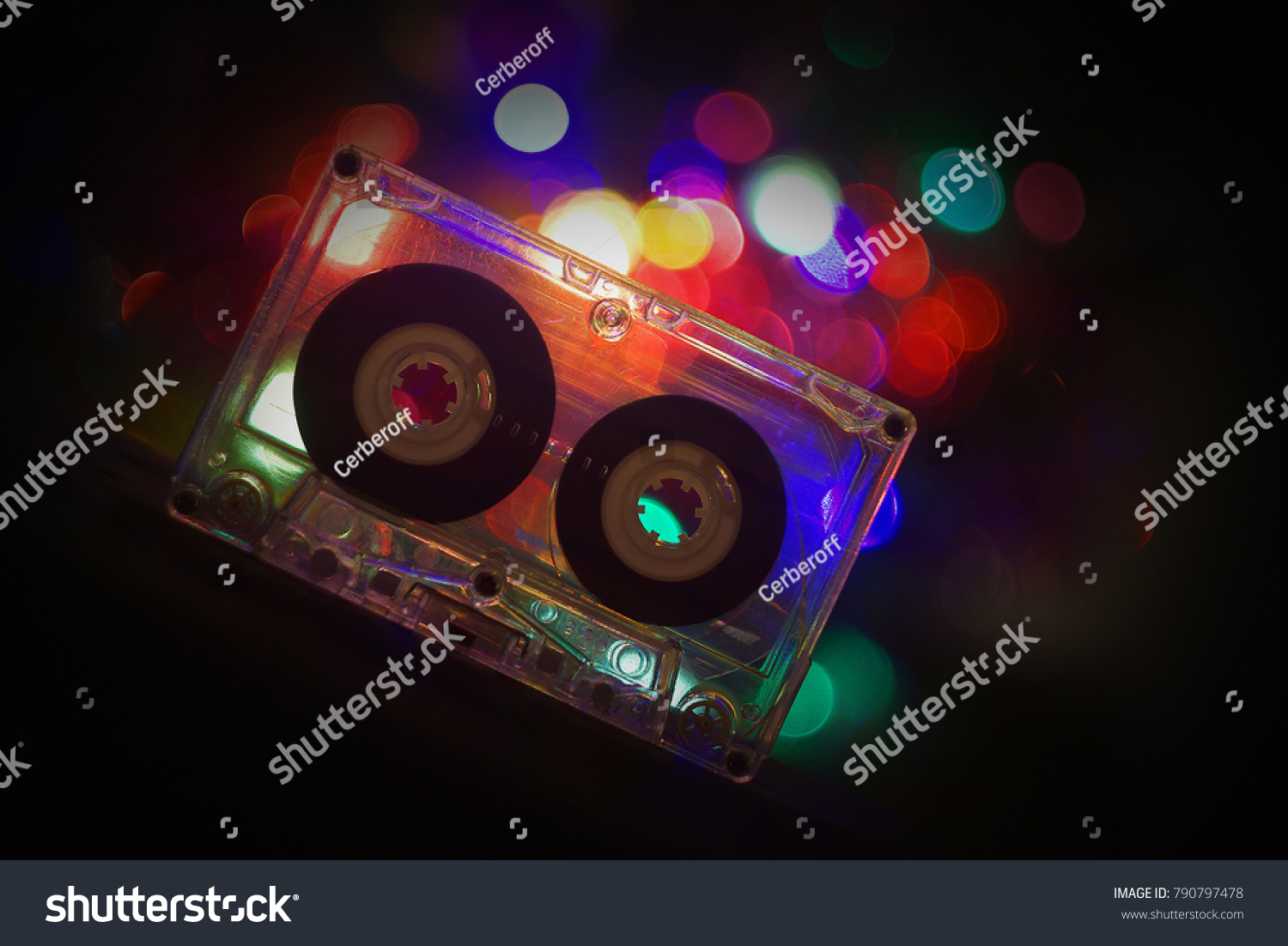 Audio Tapes Tape Recorder 70 S 80 S Stock Photo Edit Now 790797478