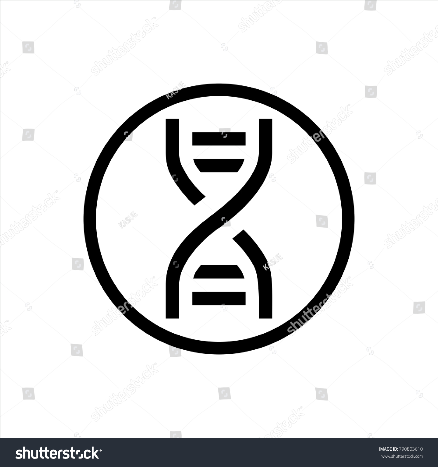 Dna Icon Trendy Flat Style Isolated Stock Vector 2018 790803610