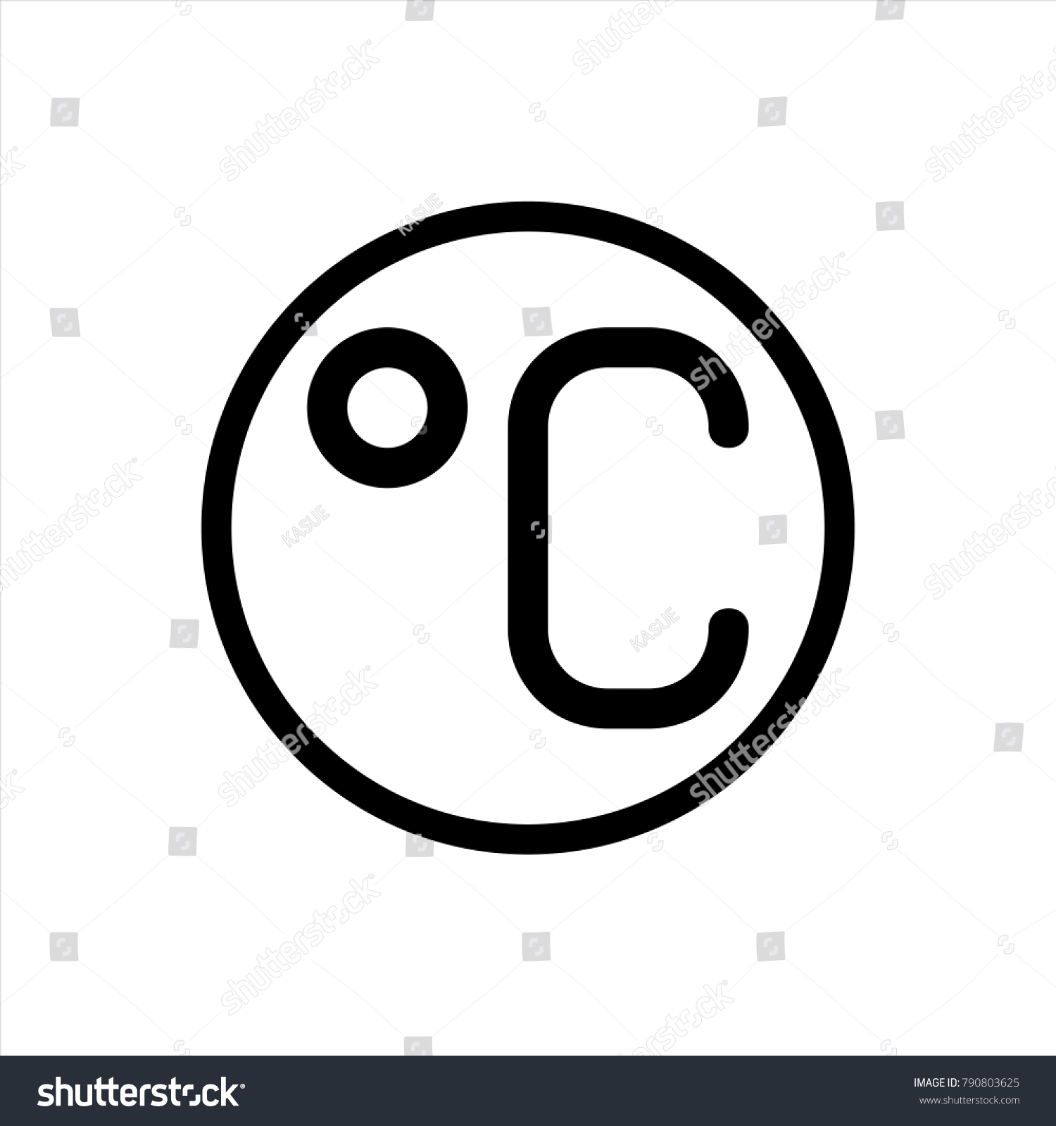 Degree symbol in text image collections symbols and meanings degree celsius icon trendy flat style stock vector 790803625 degree celsius icon in trendy flat style biocorpaavc Image collections