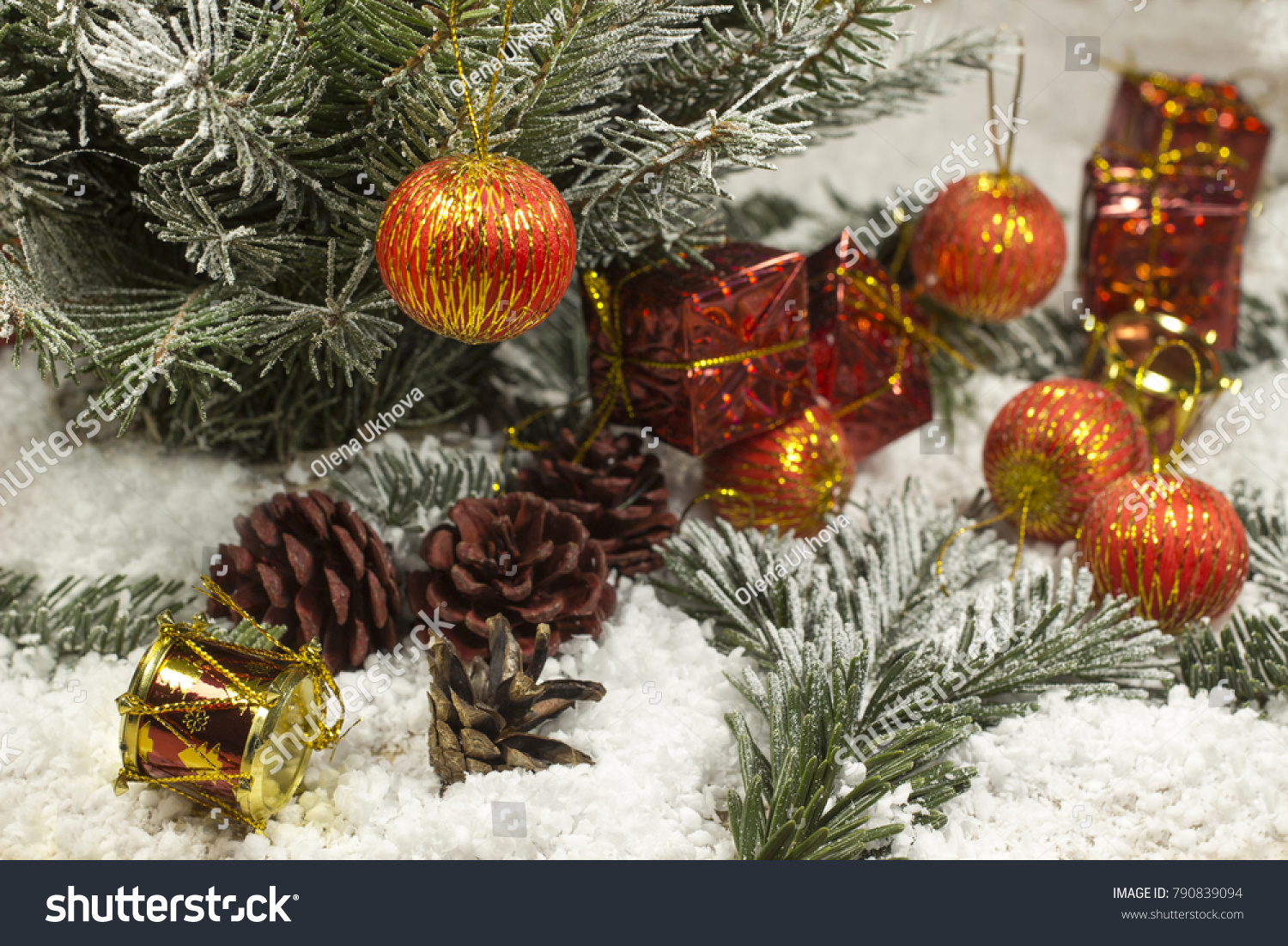 New Years Toys Under Christmas Tree Stock Photo Edit Now 790839094
