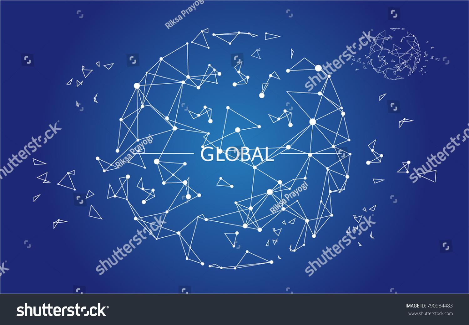 Drawing Lines Meaning : Global globe digital era lines connected stock vector