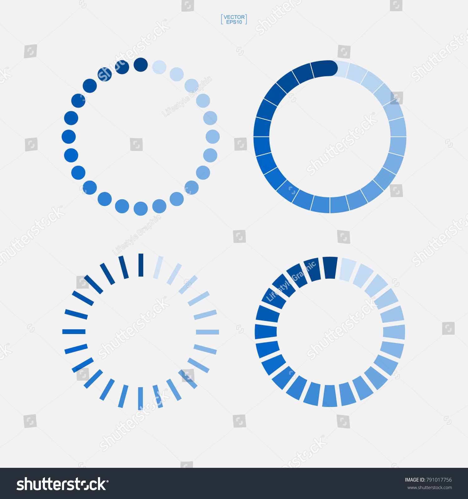 Loading symbol set abstract spinner icon stock vector 791017756 loading symbol set abstract spinner icon for web page design vector illustration biocorpaavc Image collections