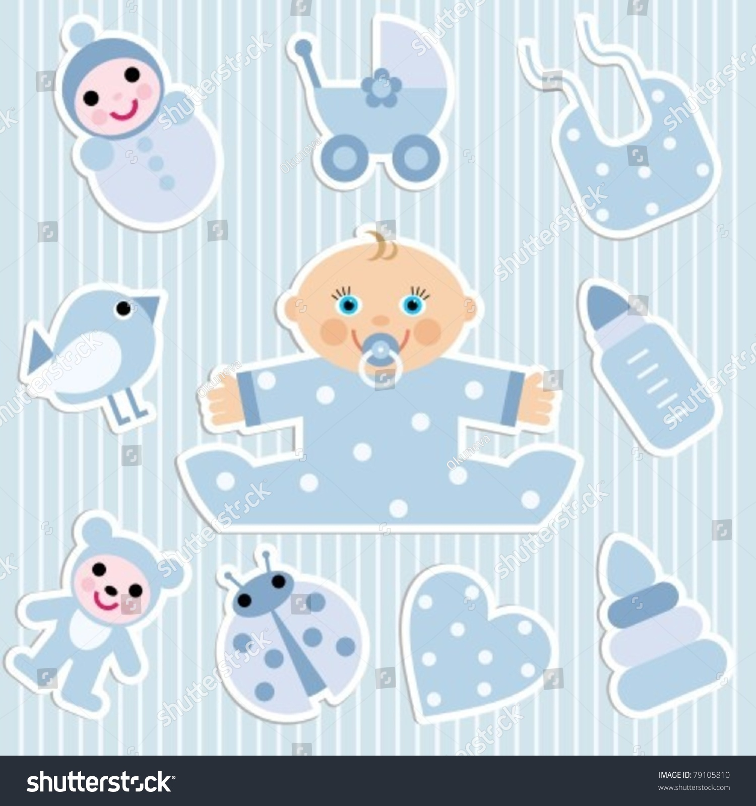 Stickers Kids Toys Stock Vector Shutterstock