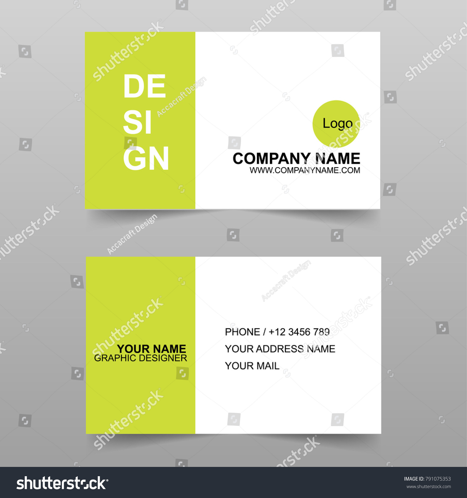 Simple Professional Business Card Design Template Stock Vector ...